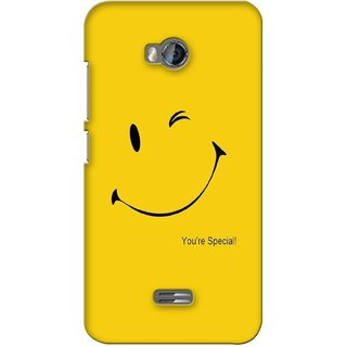 G.store Printed Back Covers for Micromax Bolt Q336 Yellow 38047
