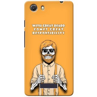G.store Printed Back Covers for Micromax Unite 3 Q372 Yellow 38650