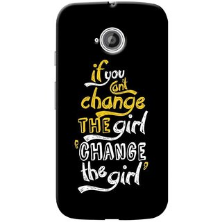 G.store Printed Back Covers for Motorola Moto E 2nd gen Black 39303