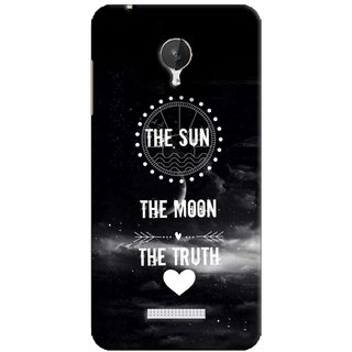 G.store Printed Back Covers for Micromax Canvas Spark Q380 Black 38477