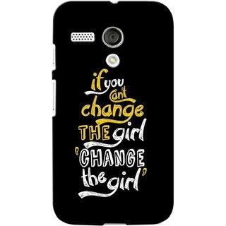 G.store Printed Back Covers for Motorola Moto G Black 39403