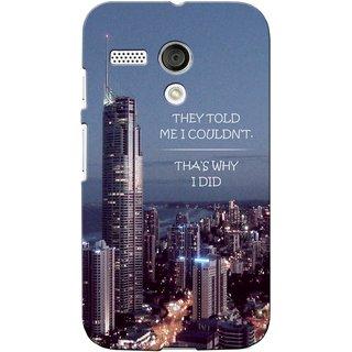 G.store Printed Back Covers for Motorola Moto G Multi 39437