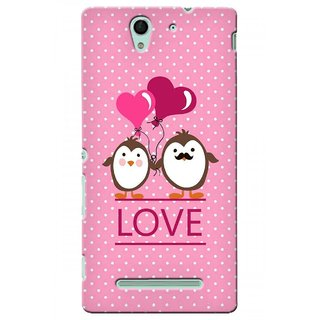 G.store Printed Back Covers for Sony Xperia C3 Pink 45514