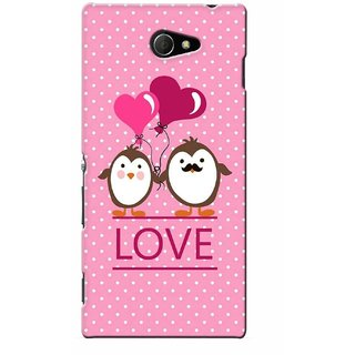 G.store Printed Back Covers for Sony Xperia M2 Pink 46014