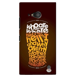 G.store Printed Back Covers for Microsoft Lumia 735 Multi 40469