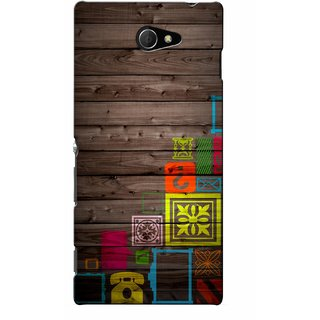 G.store Printed Back Covers for Sony Xperia M2 Multi 46098