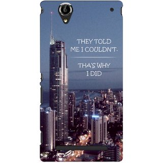 G.store Printed Back Covers for Sony Xperia T2 Ultra Multi 46537