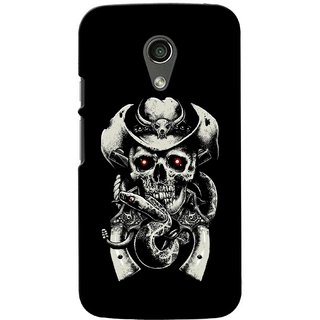 G.store Printed Back Covers for Motorola Moto G (2nd gen) Black 39596