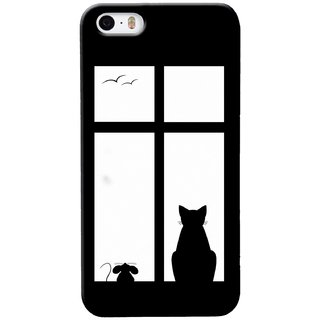 G.store Printed Back Covers for Apple iPhone 4S Black 29510