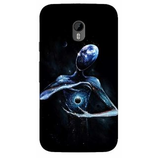 G.store Printed Back Covers for Motorola Moto G (3rd gen) Black 39613