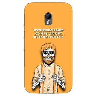 G.store Printed Back Covers for Motorola Moto G (3rd gen) Yellow 39650