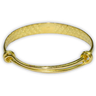 Aadi Jewels Collection Golden Bangle With A Stylish Shiny Rhodium