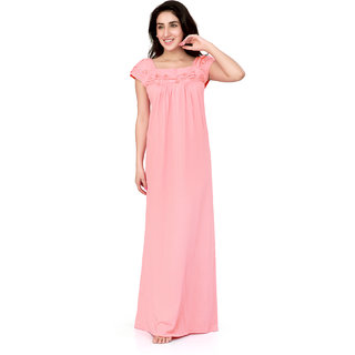 Buy Honeydew Pink Cotton Self Design Nighty Online   ₹530 from ... ac7245e19