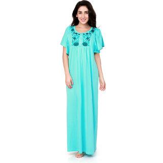 18df57320b Buy Honeydew Light Green Cotton Embroidered Nighty Online   ₹735 ...