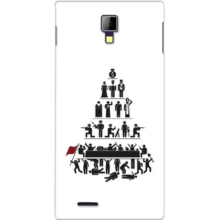 G.store Printed Back Covers for Micromax Canvas Xpress A99 White 28483