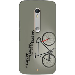 G.store Printed Back Covers for Motorola Moto X Play Grey 28711