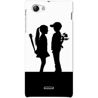 G.store Hard Back Case Cover For Sony Xperia J 66762