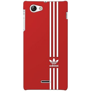 G.store Printed Back Covers for Sony Xperia J Red 45932