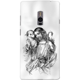 G.store Printed Back Covers for OnePlus 2  White 40700