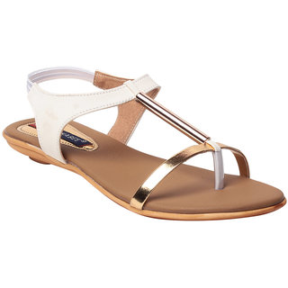 MSC Women's White Flats