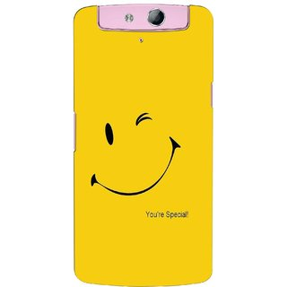 G.store Printed Back Covers for Oppo N1 mini  Yellow 41047