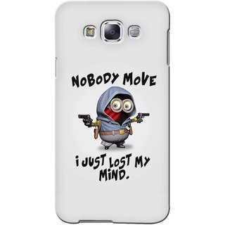 G.store Printed Back Covers for Samsung Galaxy E5 Grey 42349
