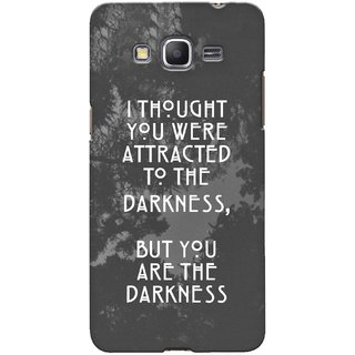 G.store Printed Back Covers for Samsung Galaxy Grand Prime Grey 42773