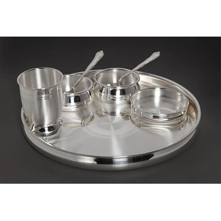 100 Pure Silver Dinner Set In India Shopclues Online