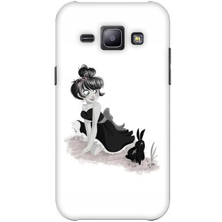 G.store Printed Back Covers for Samsung Galaxy J1 White 42945