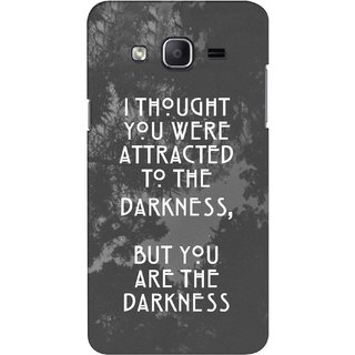 G.store Printed Back Covers for Samsung Galaxy J3 Grey 43173