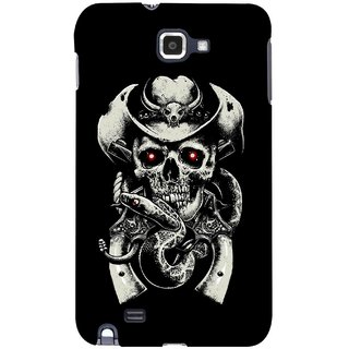 G.store Printed Back Covers for Samsung Galaxy Note  Black 43596