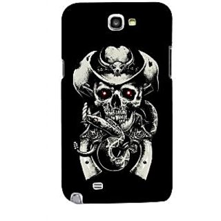 G.store Printed Back Covers for Samsung Galaxy Note 2 Black 43696