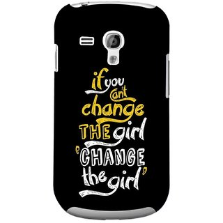 G.store Printed Back Covers for Samsung Galaxy S3 Mini Black 44703