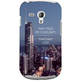 G.store Printed Back Covers for Samsung Galaxy S3 Mini Multi 44737