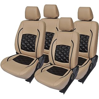 Maruti Swift BeigeLeatherite Car Seat Cover
