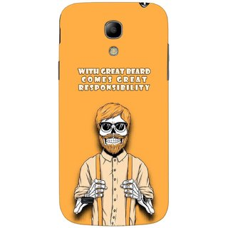 G.store Printed Back Covers for Samsung Galaxy S4 Mini Yellow 44950