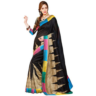 In The Mainstream Indian Multi Color Bhagalpuri Silk Saree With Blouse Piece.