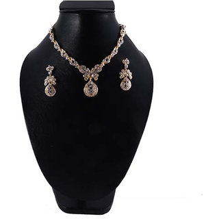 Necklace Silver with Stone 163
