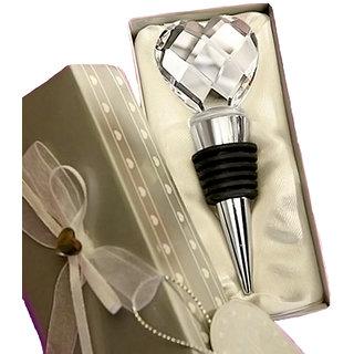 Futaba wine bottle stopper Plugger Heart Shape Crystal Gift Pack