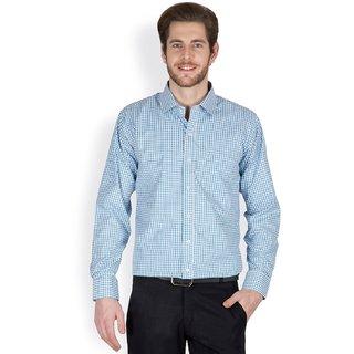 Mens Cotton Checkered Formal Shirt