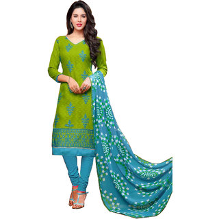 Fabfirki Presents New Exclusive GreenBlue Dress Material-FD170-187
