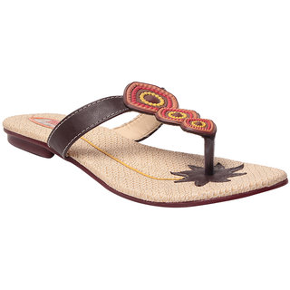 Msc Brown WomenS Flats