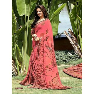 Designer Sari With Work Blouse