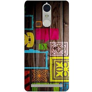 Casotec Stamps on Wooden Texture Design 3D Hard Back Case Cover for Lenovo K5 Note gz8180-11044