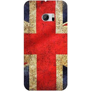 Casotec UK Flag Design 3D Hard Back Case Cover for HTC One M10 gz8182-11010