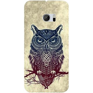 Casotec Owl Pattern Design 3D Hard Back Case Cover for HTC One M10 gz8182-12172