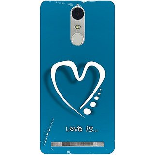 Casotec Love Design 3D Hard Back Case Cover for Lenovo K5 Note gz8180-12066