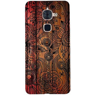 Casotec Dark Wooden Background Design 3D Hard Back Case Cover for LeTV Le 2 gz8183-13529