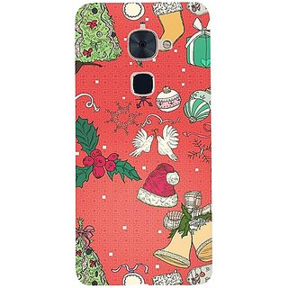 Casotec Santa Design 3D Hard Back Case Cover for LeTV Le 2 gz8183-12318