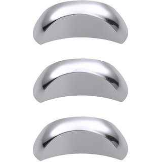 Doyours Chrome Cabinet Knob, White Metal - Set of 3